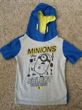 DESPICABLE ME 3 Minions Blue and Gray Hooded Top Boys Size 6