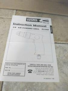 "CAMPBELL HAUSFELD INSTRUCTION MANUAL 3/8"" AIR POWERED DRILL TL 1006"