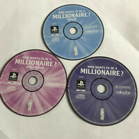 Millionaire 1 2nd Edition & Junior / Disc Only Bundle /Playstation 1 PS1 PS2/PS3