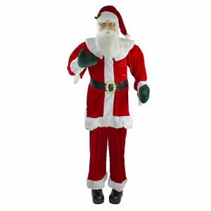 Northlight Huge Life-Size Plush Standing Santa Claus - 6 Ft