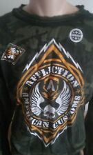 (SALE)AFFLICTION CAMO REVERSIBLE THERMAL,XXL,2XL,AWESOME SHIRT,NWT,SAVE BIG!!