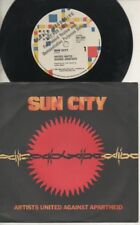 "U2   BONO   Rare 1985 Australian Promo Only 7"" OOP Rock P/C Single ""Sun City"""