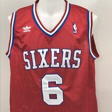 Julius Erving Philadelphia 76ers Mesh Jersey Adidas NBA Mens Large Stitched