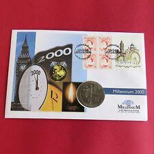 GIBRALTAR 1999 MILLENNIUM TITANIUM PROOF £5 - coin cover