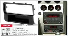 Carav 11-187 1-din marco adaptador de radio Alfa Romeo 159 Brera Spider W/poc