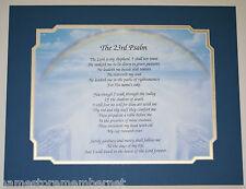 THE 23RD PSALM PRAYER verse on Hands Art Background GREAT Gift Idea