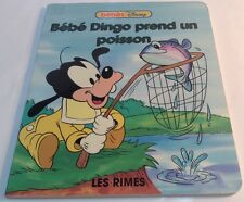 Children book in French BÉBÉ DINGO PREND UN POISSON livre Français BÉBÉS DISNEY
