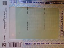 """Microscale Decal N  #60-4390 Reflector Stripes Scale 4"""" X 18"""". For Locomotives &"""