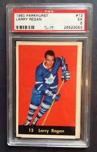1960 Parkhurst #13 Larry Regan PSA 5