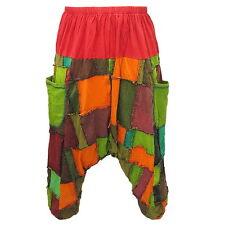 Baggy Gypsy Harem Patchwork Drop Crotch Capris Stretch Cotton Pants - EI517