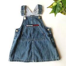 Vintage Tommy Hilfiger Overall Denim Dress Toddler Girl Size 12-18 months
