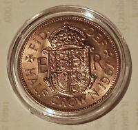 CAPSULE UNCIRCULATED 1967 HALF CROWN COIN - ELIZABETH II - HIGH LUSTRE (20.3)