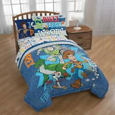 Toy Story 4 Twin/Full Comforter Set w/ Woody, Buzz, Forky & Rex, Reversible