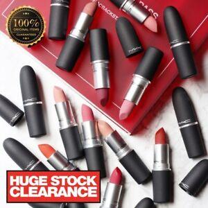MAC Matte Pro Lipstick Velvet Teddy Honey Love Ruby Woo Whirl - 100% Authentic
