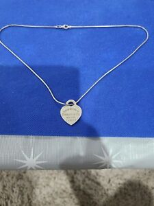 Tiffany and co necklace silver