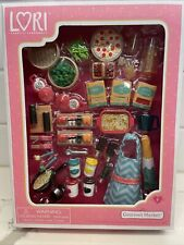 LORI Gourmet Market Food Accessory Set NEW Battat For 6 In Doll