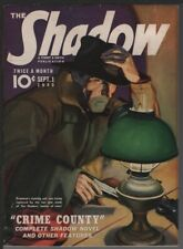 Shadow 1940 September 1. Shadow with uncovered face.   Pulp