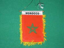 "MOROCCO FLAG MINI BANNER 4""x6"" CAR WINDOW MIRROR NEW"