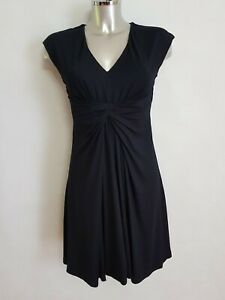 Seraphine Pleat Details Jersey Dress Black Uk 10