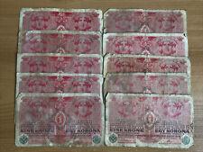 Lot Of 10 X Austria Banknotes. 1 Krone. Dated 1916. Vintage Set.