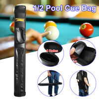 Billiard Stick Bag for 1/2 Pool Cue Tube Storage Carrying Case PU Leather 82CM
