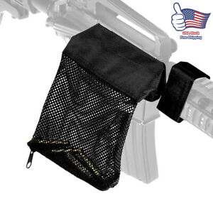 Adjustable Brass Shell Catcher Heat Resistant Nylon, Zippered Bottom Black Color