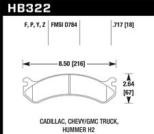Disc Brake Pad Set-Base Front,Rear Hawk Perf HB322P.717