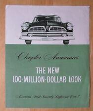 CHRYSLER orig 1955 USA Mkt sales brochure - New Yorker Newport Imperial Windsor