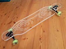GHOST Longboard USA Exklusiv Custom Acrylglas Deck LED Rollen Skateboard DaVinci