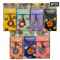 BTS BT21 Official Authentic Goods Metal Keyring Flower Ver + Tracking Number