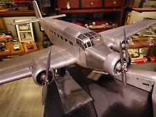 """""""NEU""""Flugzeugmodell  Junkers Ju52, Tante Ju, Handarbeitsmodell aus Metall,"""