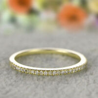 6-10 Stackable Eternity Silver Plated 925 Gold Wedding Promise Rose Rings Size