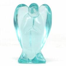"1.5"" Angel Statue Ocean Blue Obsidian Crystal Carved Stone Healing Figurine"