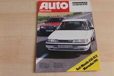 90917) Mazda 626 GLX - Mercedes 190 E 2.0 - Sonderdruck - Autozeitung 19/1987