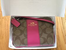 Authentic NEW Coach Brown/Pink Mini Clutch Purse with Wallet and Strap  OFFER UP