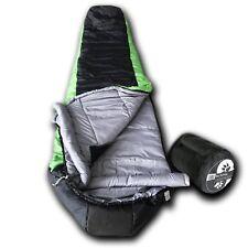 Wolftraders +20 Degree Premium Lightweight Synthetic Down Mummy Sleeping Bag