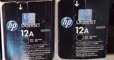 2 New Genuine Factory Sealed HP 12A Toner Cartridges New Black Style Boxes