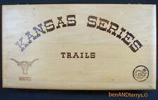 Colt Kansas Series Trails Pawnee wood commemorative presentation display case
