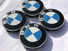 4x Original BMW Radkappen 68mm Deckel Embleme Radnaben Radababdeckung Felgen