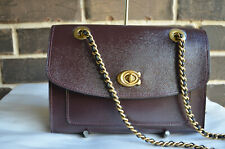 NWT $350 COACH Parker 31636 Patent Leather Shoulder Crossbody Bag Oxblood