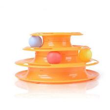 Interactive Motion Disk Crazy Ball Pet Cat Kitten Amusement Plate Trilaminar Toy