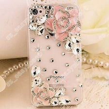 3D Handmade Bling Diamonds Rhinestone Crystal Hard Clear Case Cover Phone Skin