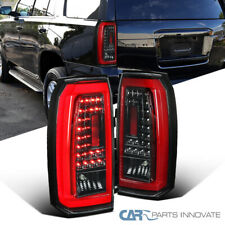 For Chevy 15-18 Tahoe Suburban Pearl Black LED Rear Tail Lights Parking Lamps