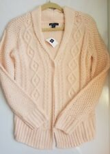 GAP KIDS PINK CABLE-KNIT CARDIGAN SWEATER XL 12