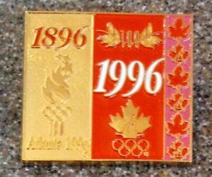 1996 1896 Atlanta Olympic Pin Canada Bridge Maple Leaf Rings