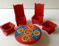 Vintage Fisher Price Little People TABLE THRONES Wood Castle 993