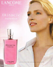 PUBLICITE ADVERTISING 085  2003  LANCOME parfum MIRACLE INTENSE SCARLET JOHANSON