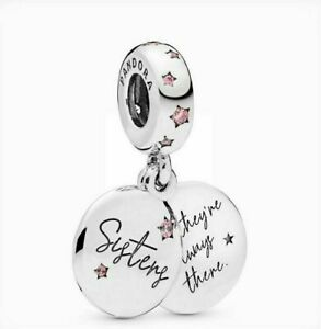 Genuine PANDORA Forever Sisters Charm 798012FPC Sterling Silver S925 ALE