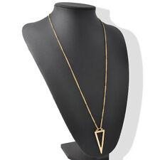 Neu Lang Kette Modekette Damen Halskette Chain Anhänger Gold Schmuck