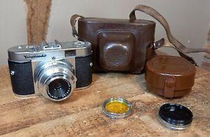 Voigtlander Vito B 35mm Film Camera 1958 with filters - stunning